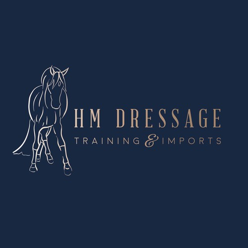 Dressage design with the title 'Logo'