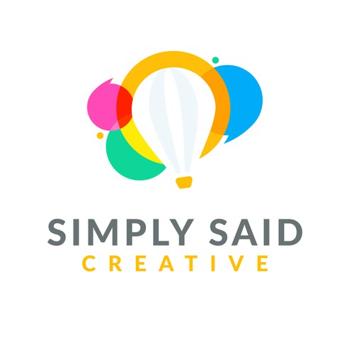 Talking design with the title 'Hot Air Balloon - Chat Creativity'