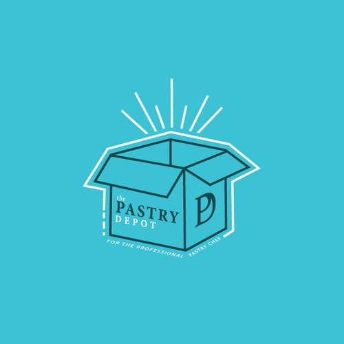Interesting design with the title 'Line-based, happy baking/pastry supplier logo!'