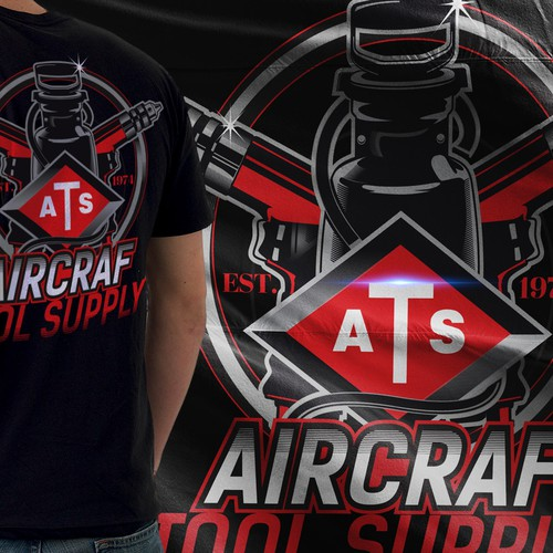 Industrial t-shirt with the title 'Aircraft Tool Supply'