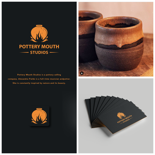 Pottery design with the title 'Pottery Logo For Pottery Mouth Studios'