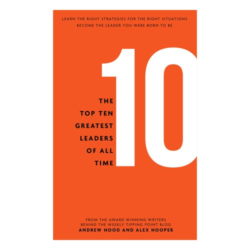 "Publication design with the title 'Book Cover for ""The Top 10 Greatest Leaders of All Time.""'"