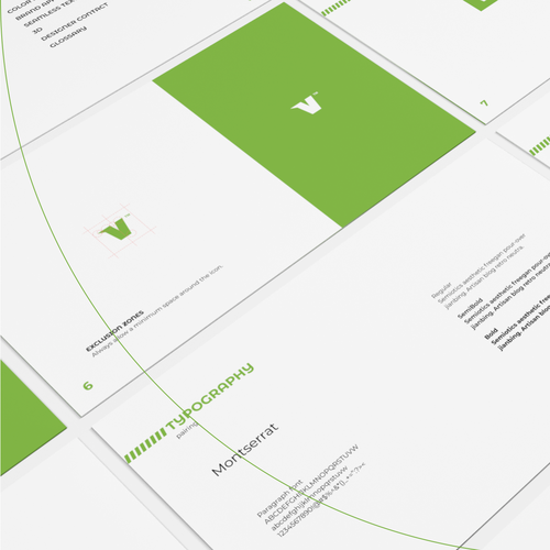 Golden ratio design with the title 'logo & brand guide for a link page app'