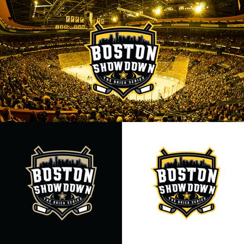Boston design with the title 'Bold hockey showcase logo concept for pizzeria'