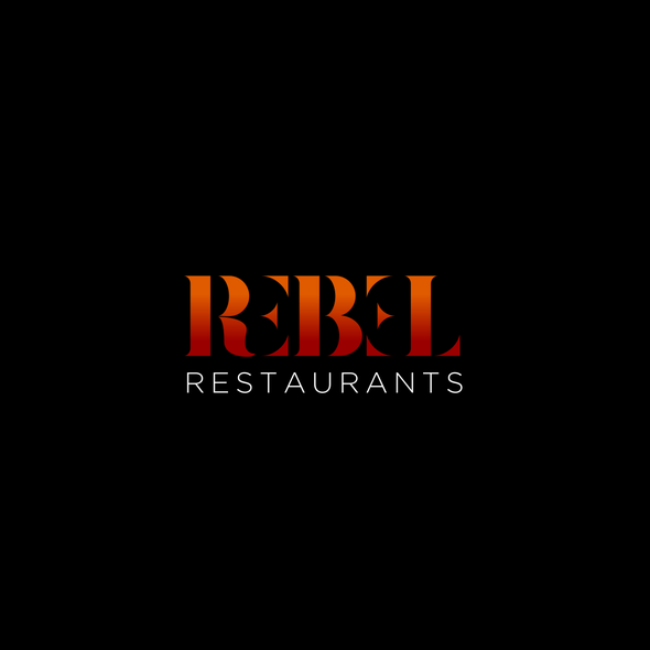 Rebel logo with the title 'Rebel Restaurants'