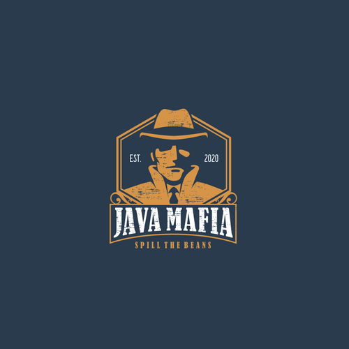 Mafia logo with the title 'Logo for mafia coffee '