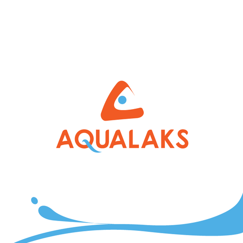 Salmon logo with the title 'Fresh & modern logo for water & salmon aquaculture fish farm'