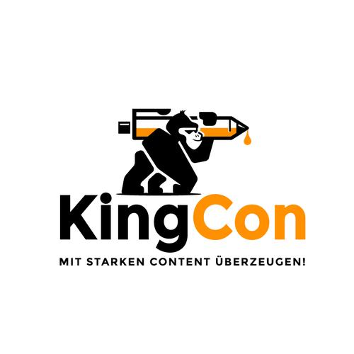 Monkey logo with the title 'KingCon Logo'