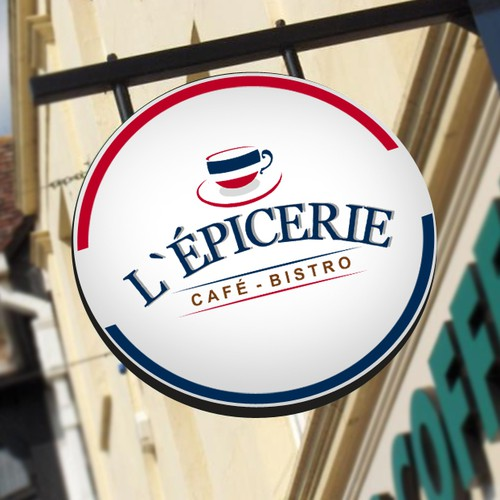 French cafe logo with the title 'L'epicerie'