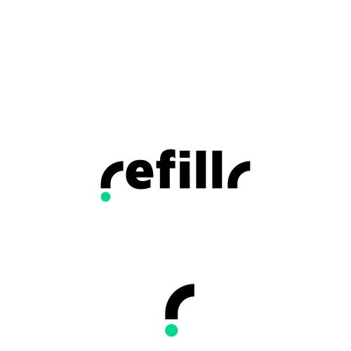 Data center logo with the title 'Refillr logo design'