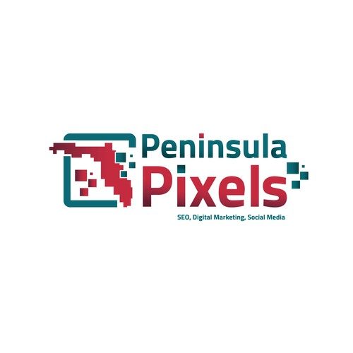 SEO logo with the title 'Peninsula Pixels'