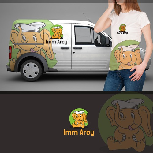 Fresh food logo with the title 'Imm Aroy'