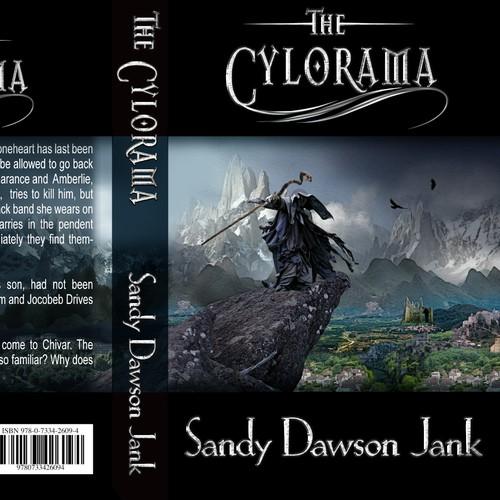 Villain design with the title 'Fantasy Novel Book Cover'