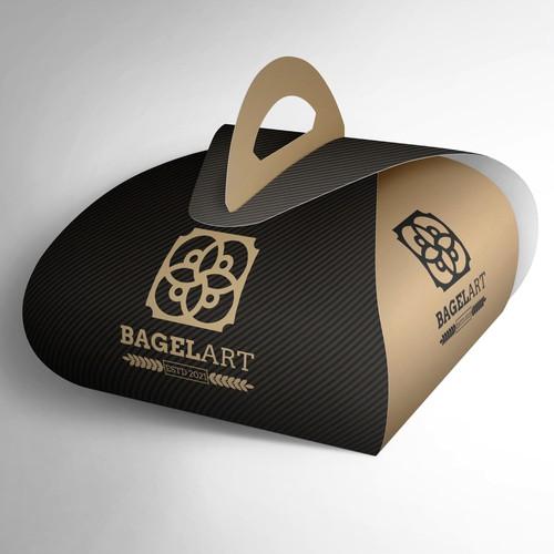 Bagel logo with the title 'Bagel Art logo design'