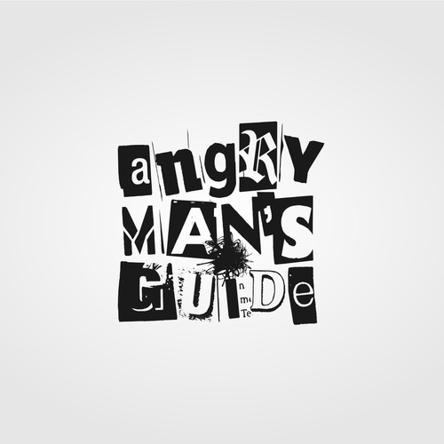 Guide logo with the title 'Angry Man's Guide Blog Logo'