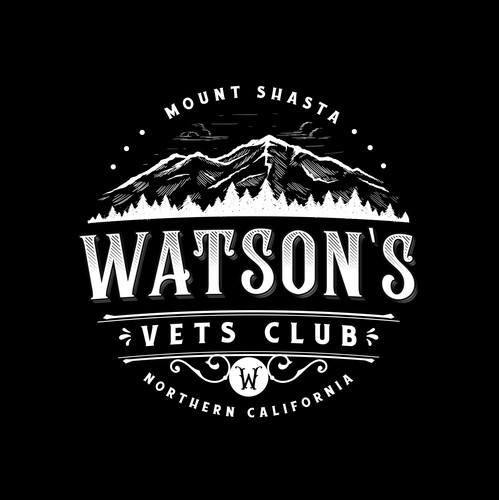 Bar logo with the title 'Watson's Vets Club'