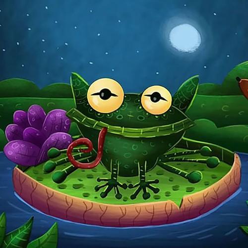 Children's book illustration with the title 'sapo cururu'