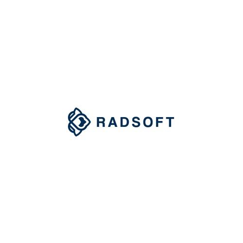 Hardware logo with the title 'Radsoft Logo Design'