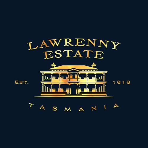 Tasmanian logo with the title 'Logo for Lawrenny Estate Premium produce company Tasmania'
