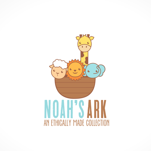Baby clothing logo with the title 'Noah's Ark'