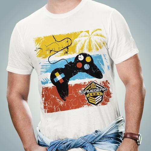 California t-shirt with the title 'Californian Gaming T-shirt'