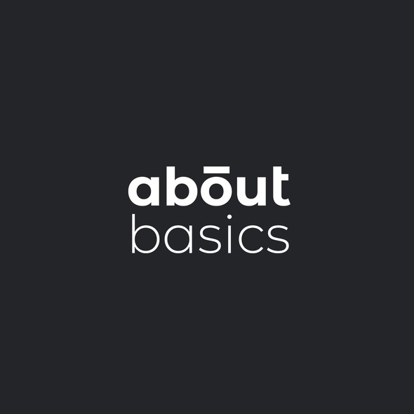 Basic design with the title 'Simple wordmark for a household brand'