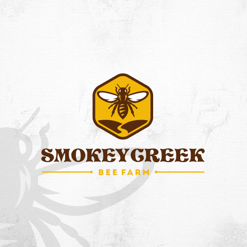 Beekeeping logo with the title 'small, local bee company'