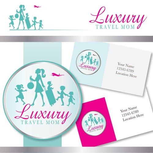 Mom design with the title 'logo for Luxury Travel Mom'