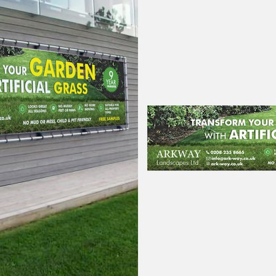 Vinyl Banner Artifical Grass company