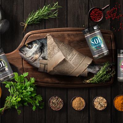 Salt label, premium, Chefs line