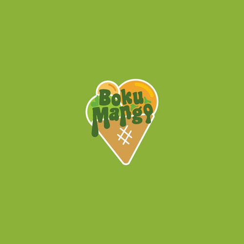 Mango logo with the title 'Logo design'