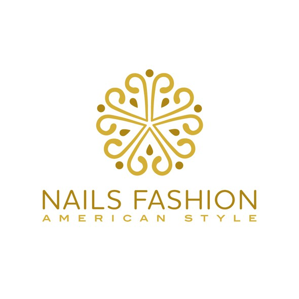 Nail logo with the title 'Nails Fashion'
