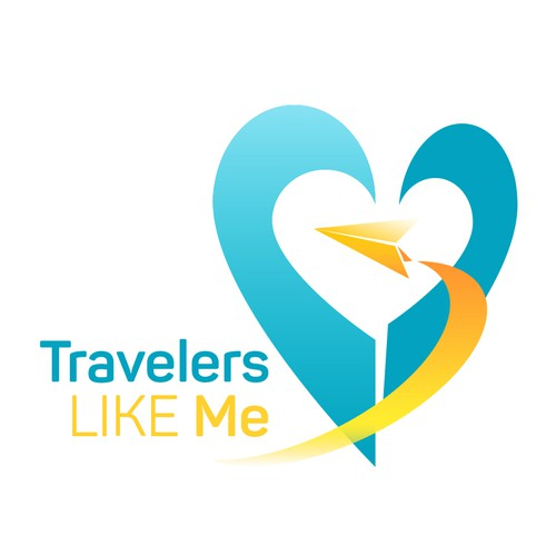 Plane brand with the title 'Logo concept for organization that allows travelers to find fellow travelers with similar interests in an intuitive way.'
