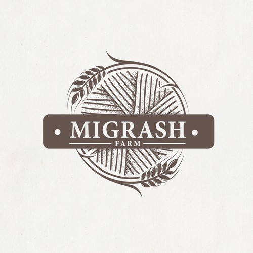 "Mill logo with the title 'Logo for stunning agriculture - ""Migrash Farm"".'"