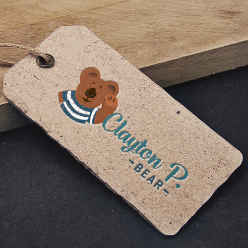 Teddy logo with the title 'Fun and contemporary logo for a pottery teddy bears company'
