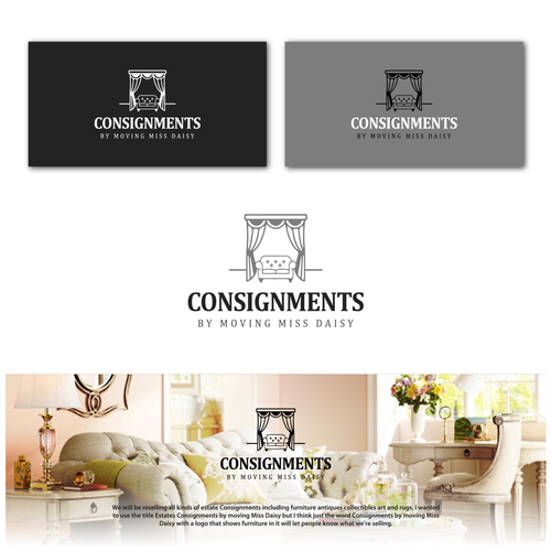 Interior decoration logo with the title 'consignaments'