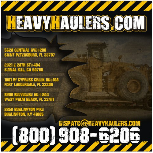 Tractor design with the title 'Heavy Haulers Banner'