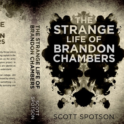 Painting design with the title 'The strange life of Brandon Chambers - Psychological thriller'
