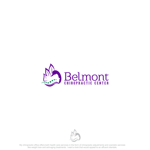 Chiropractic brand with the title 'Belmont Chiropractic Center'