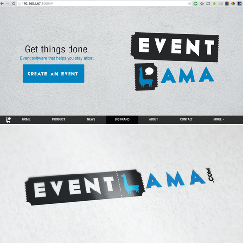Event planning logo with the title 'EVENT LAMA'