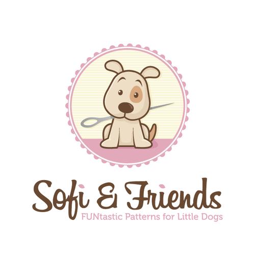 Animal shelter logo with the title 'Cartoon Dog Logo'
