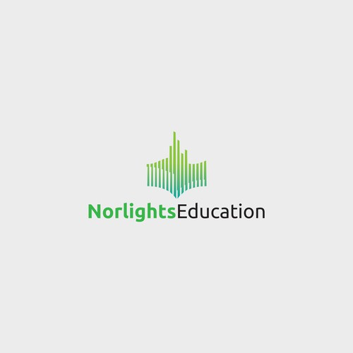 Aurora logo with the title 'norlights education'