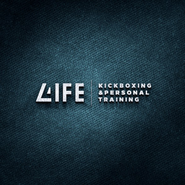 Kickboxing logo with the title '4life'