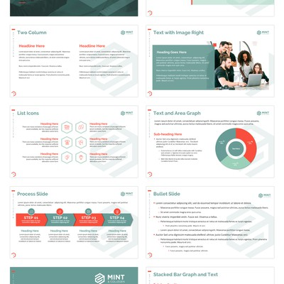 Mint & Collagen PPT Template