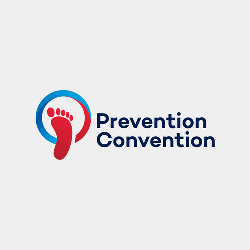 Trade convention logo with the title 'Logo concept for Prevention Convention'