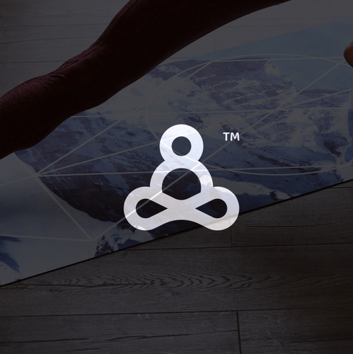 Infinity logo with the title 'Fun Yoga Logo for Men'
