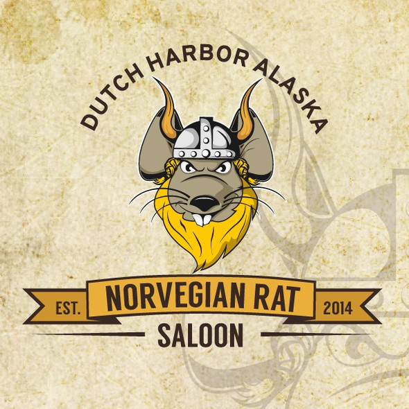 Saloon logo with the title 'Norwegian Rat Saloon'