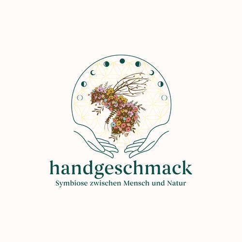 Beauty design with the title 'HANDGESCHMACK LOGO '