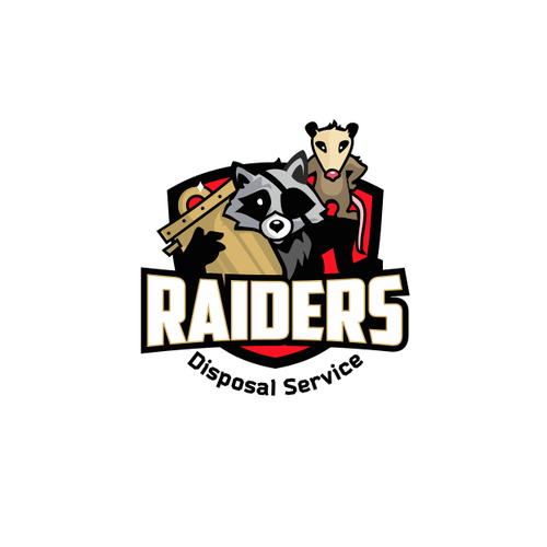Raccoon logo with the title 'Sketch for Raiders'