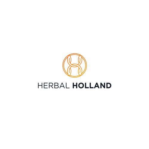 Aesthetic logo with the title 'Herbal Holland'